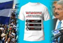 Salvadoreños crean camisas con la leyenda que los diputados exigian para los paquetes alimentarios