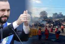 Presidente Bukele felicita a los valientes bomberos que arriesgaron sus vidas para apagar el incendio en cuestión de minutos