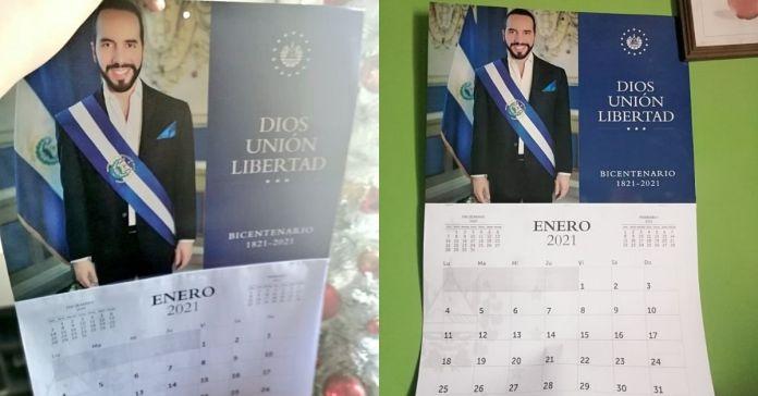 Salvadoreños crean sus propios calendarios con la imagen del Presidente Bukele para iniciar el 2021 de la mejor manera