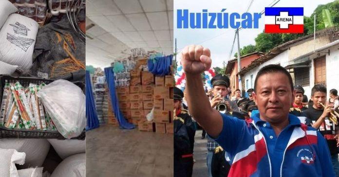 Denuncian al alcalde de ARENA que ha escondido por lo menos 2 meses alimentos que eran para los salvadoreños afectados en Huizúcar