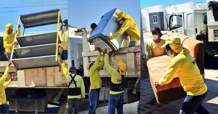 Obras Públicas continúa trasladando pertenencias de familias salvadoreñas afectadas por las tormentas a su nuevo hogar
