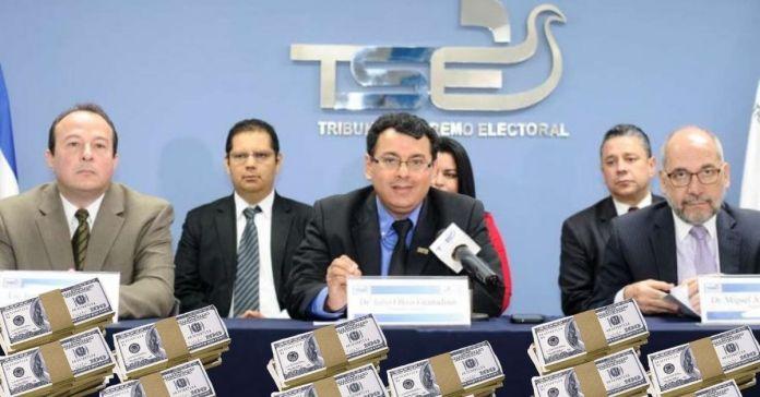 Magistrados del TSE aumentan sus salarios a menos de dos meses de realizarse las elecciones