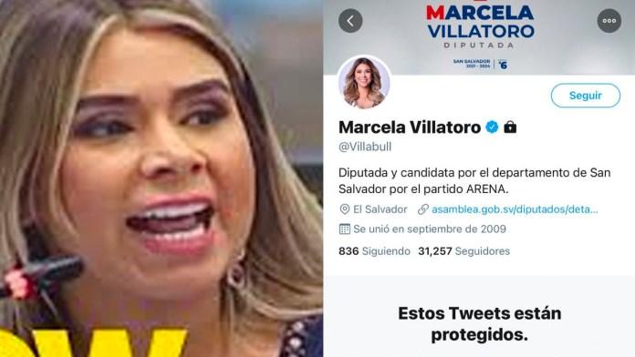 Marcela Villatoro no aguanta la presión y hace privada su cuenta de twitter, luego de que muchas personas se rieran de su actitud ridícula