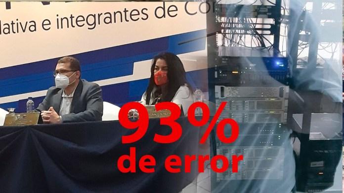 El TSE reportó un margen de error del 93% al hacer el conteo de votos. Parece que poco a poco se están moviendo las piezas para el fraude