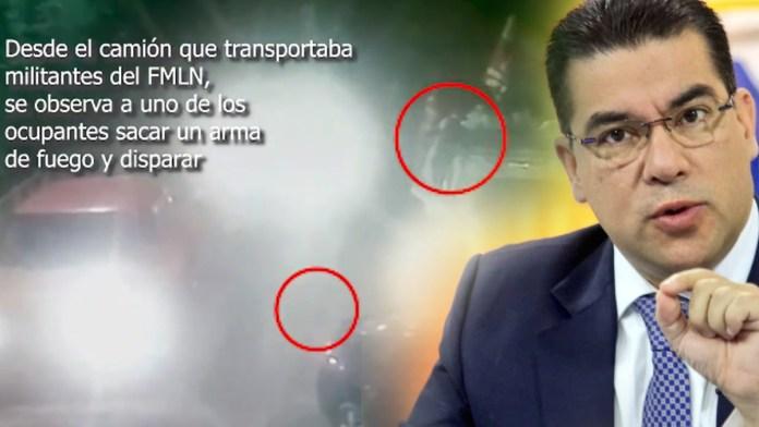 Raúl Melara arremete contra la PNC por destapar su mentira, luego que lanzara los videos donde queda claro que el primero en disparar fue del FMLN