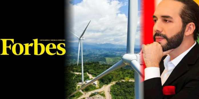 Forbes destaca a El Salvador como líder en la región por la construcción del parque eólico más grande de Centroamérica