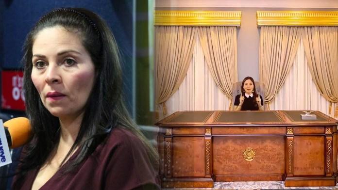 Bertóxica demuestra lo obsesionada que está con Nayib Bukele, la candidata a diputada sacó un spot donde se sienta en el despacho del pres