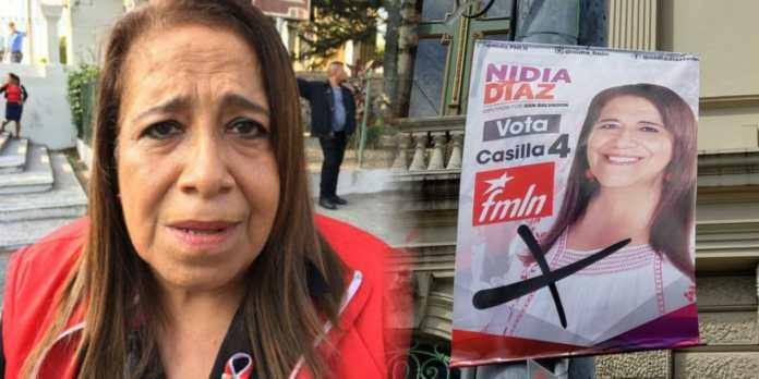 Nidia Díaz sale a las calles a verificar personalmente que su propaganda no sea ensuciada