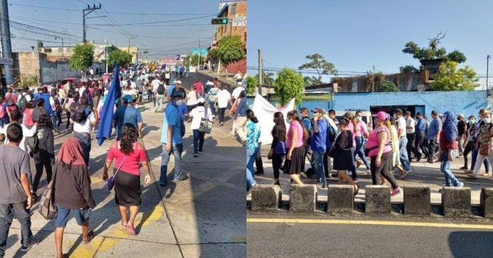 Sindicalistas realizan protestas tras fallido golpe de Estado contra el Presidente Bukele