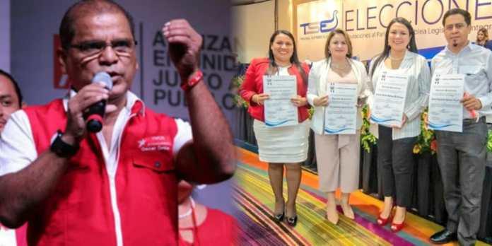 Óscar Ortiz celebra el triunfo de 4 diputados para la Asamblea Legislativa