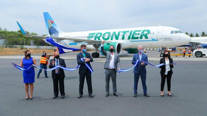 Aerolínea Frontier inicia desde hoy operaciones en El Salvador