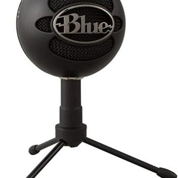 Micrófono Logitech Blue Snow Ball Color Negro USB para PC - 988-000067