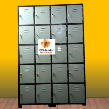 Lockers de 4 cuerpos 20 Puertas con llave