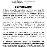 Caifanes se presenta el 24 de Junio en el Centro Cultural Las Américas de Ecatepec