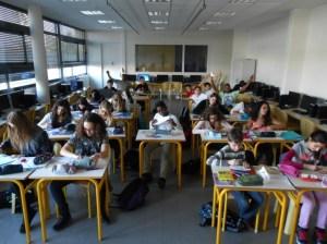 Les élèves au travail
