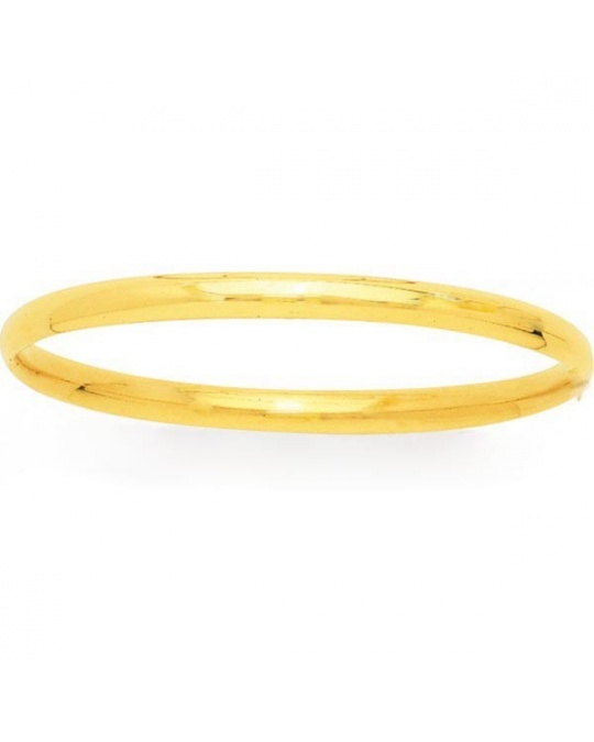 bracelet jonc or jaune 750 9 mm
