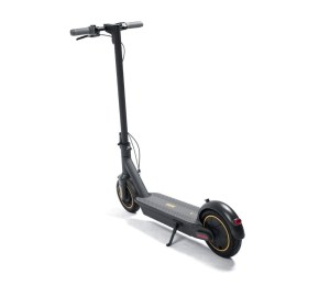 """DBF0B191B08A48D0A163D212F42620D8  <h1><a href=""""https://elscooter.org/produkt/ninebot-max/"""">Ninebot Max G30</a></h1> <h3>Om Ninebot max</h3> G30 är rejält byggd för både asfalt och grusvägar. De stora 10 tums slanglösa däcken ger dig en komfortabel körning. Däcken är utrustade med ett extra gelélager på insidan för att motverka punkteringar. Ninebot max G30 är utrustad med framljus och bakljus samt mekanisk skivbroms fram och en elektronisk broms bak.<strong>Det finns nu 2 st oöppnade Ninebot max G30 för avhämtning i Jönköping.</strong><strong>Det finns ca 20 st på lager i Holland som skickas direkt hem till din adress. Leveranstid 7 dagar.</strong>- Hastighet: 25-30 km/h. Går att justera i mjukvaran.- Räckvidd: 65 km- Laddningstid: 6 h- Maxvikt: 100 kg- Motor: 350 Watt- Vajerlås ingår- Mekanisk broms fram. Elektrisk broms bak.- Display – Ja- Blåtand – Ja- Vattentålig – Ja, IPX5- Vikt: 18,7 kgTillverkarens sida: <a href=""""http://no-en.segway.com/products/ninebot-kickscooter-max-g30"""">http://no-en.segway.com/products/ninebot-kickscooter-max-g30</a>  Ninebot Max G30 - 350 watt"""