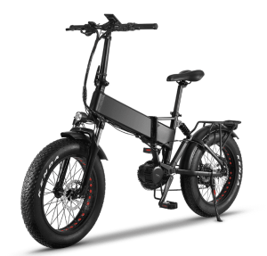 fatbike 1000w helbild  Marknadens elakaste fatbike som levererar brutal prestanda.<strong>Leveranstid 50 dagar.</strong>- Motor: Bafang mittmotor G320 1000 Watt – 160 Nm- Batteri: Samsung 48V/16AH- Räckvidd: 60 km- Hastighet: Begränsad till 25 km/h- Vikt: 28 kg- Vikbar ram med integrerat batteri- Gasreglage dvs du gasar cykeln som en moped utan att behöva trampa.- Hydrauliska bromsar: Logan- Färgskärm: Bafang DPC18- Shimano 9 vxl RD-3500- Farthållare- Unik Möjlighet att välja din egen färg på ramen och fälgarna. Ingår i priset.- Kan beställas med eller utan logotyp på cykeln.  Elcykel Ghostride 1000W - Custom made