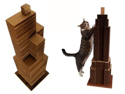 Rascador en forma de rascacielos para gato - catscraper