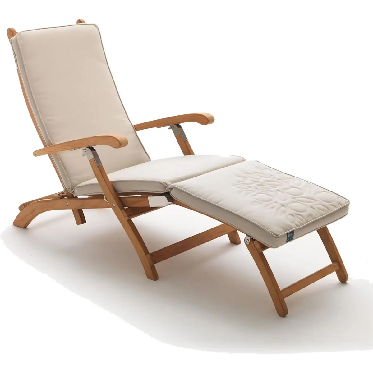 teak steamer chair striped covers dining rooms rhs wisley 0896611 8001 garden