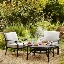 Hartman Jamie Oliver Fire Pit Set Riven With Pewter Silver