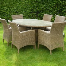 Hartman Ribble Oval Set - Natural Rattan Sdset01