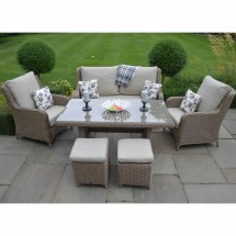 Leisuregrow Saigon Heritage Highback Lounge Dining Set
