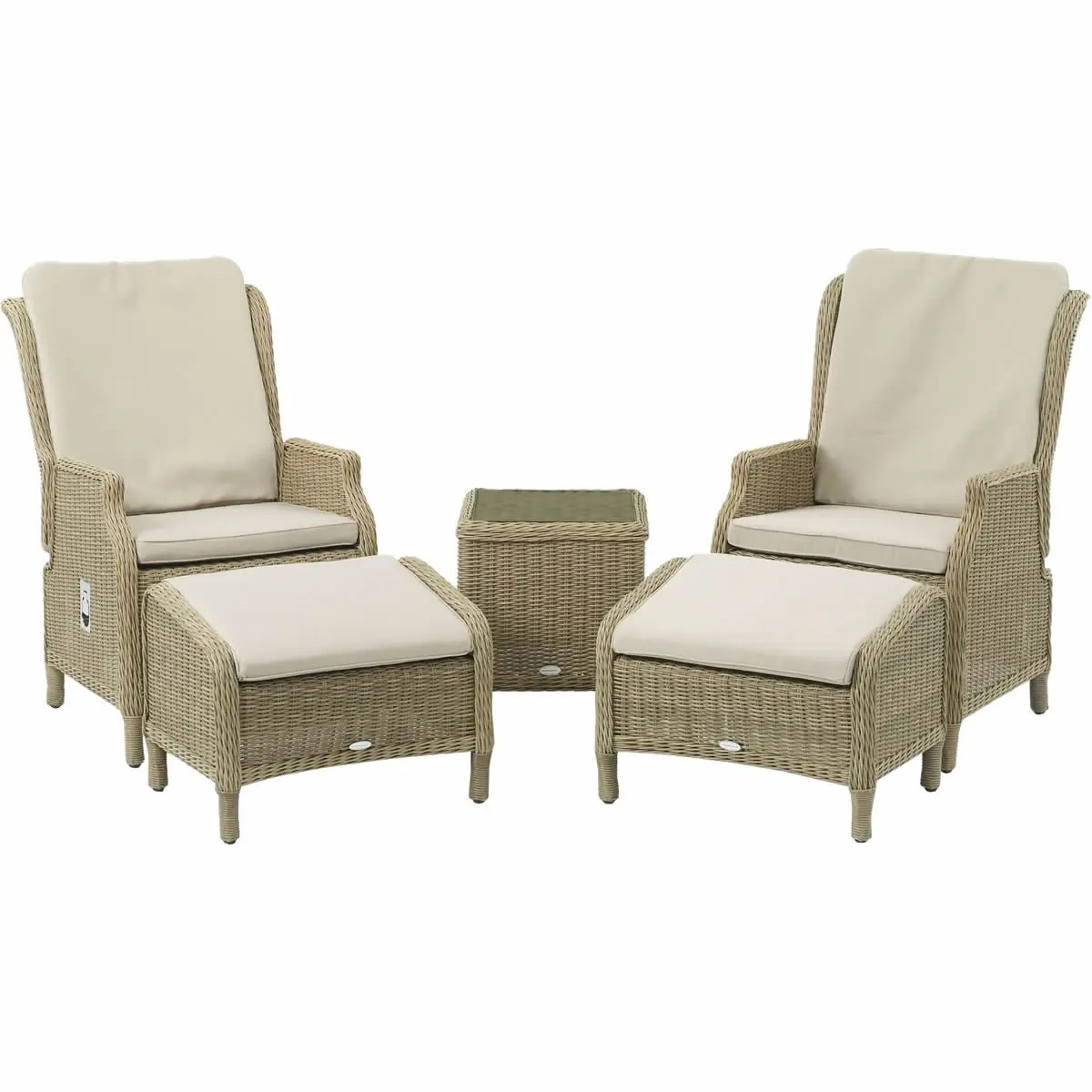 outdoor recliner chairs uk rocking at target bramblecrest oakridge 2 recliners set season proof