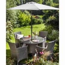 Hartman Appleton 4 Seat Set - Slate Stone Grey Rattan