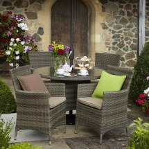 Hartman Bentley 4 Seat Dining Set - Hbenset02 Garden