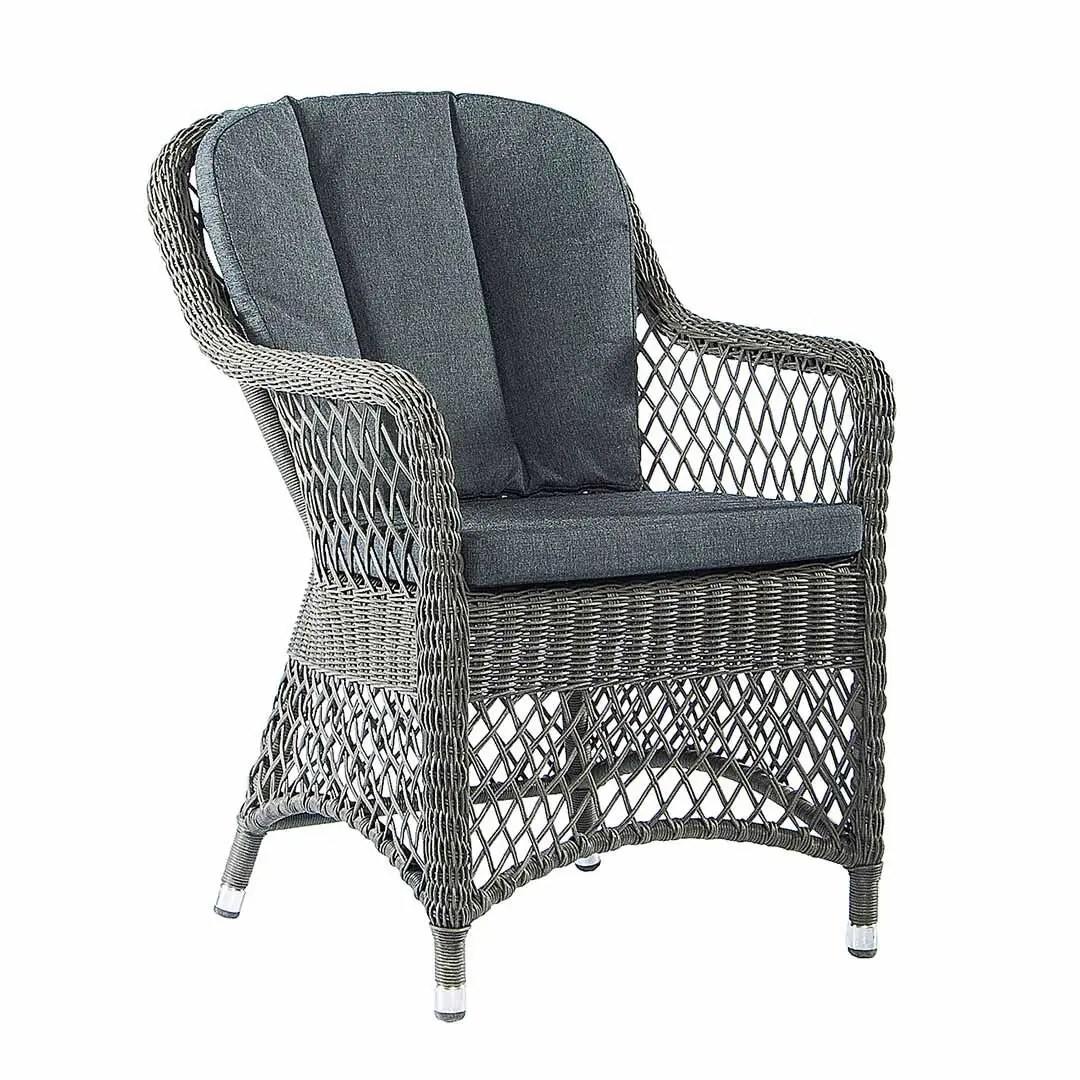 grey weave garden chairs best for back pain at home uk monte carlo open chair with cushion 7702gr