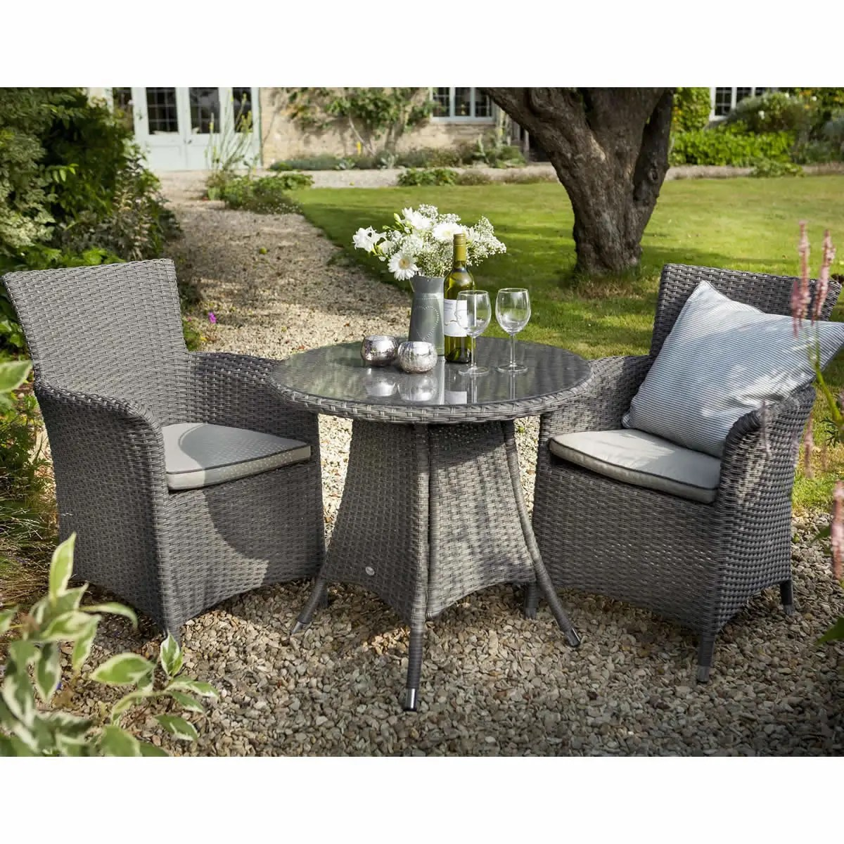 grey weave garden chairs work chair accessories hartman appleton bistro set slate stone rattan