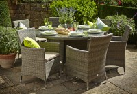 Hartman Bentley 6 Seat Dining Set - (HBENSET03) - Garden ...