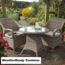 Hartman Kingsbury Bistro Set Weatherready Cushions Bark