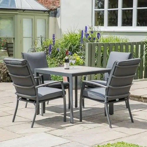 leisure grow 4 seat set with cushioned