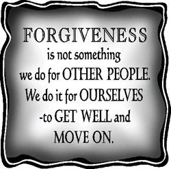 forgiveness and moving on