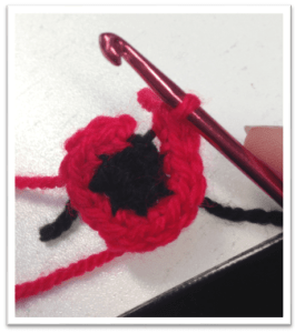 Crochet Poppy Pattern step 1