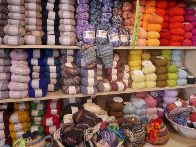 Sew Vintage yarns in Wells, Somerset