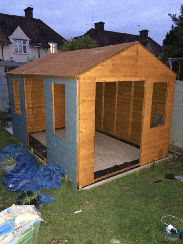 Garden office ready for doors and windows