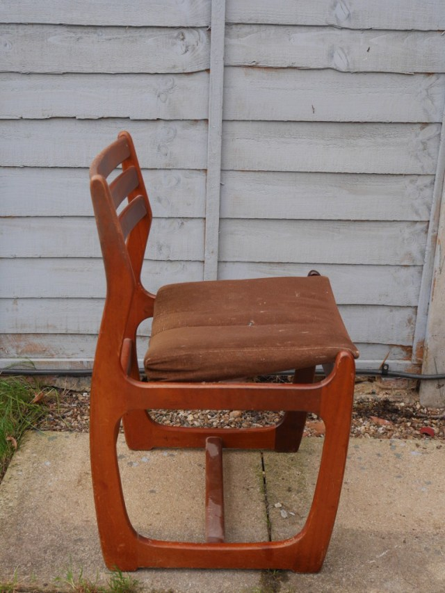 midcentury chair side view