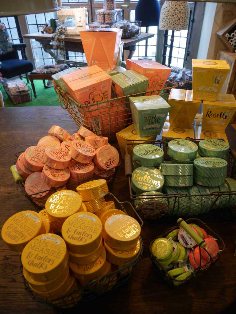 Retro sewing kits in Liberty London