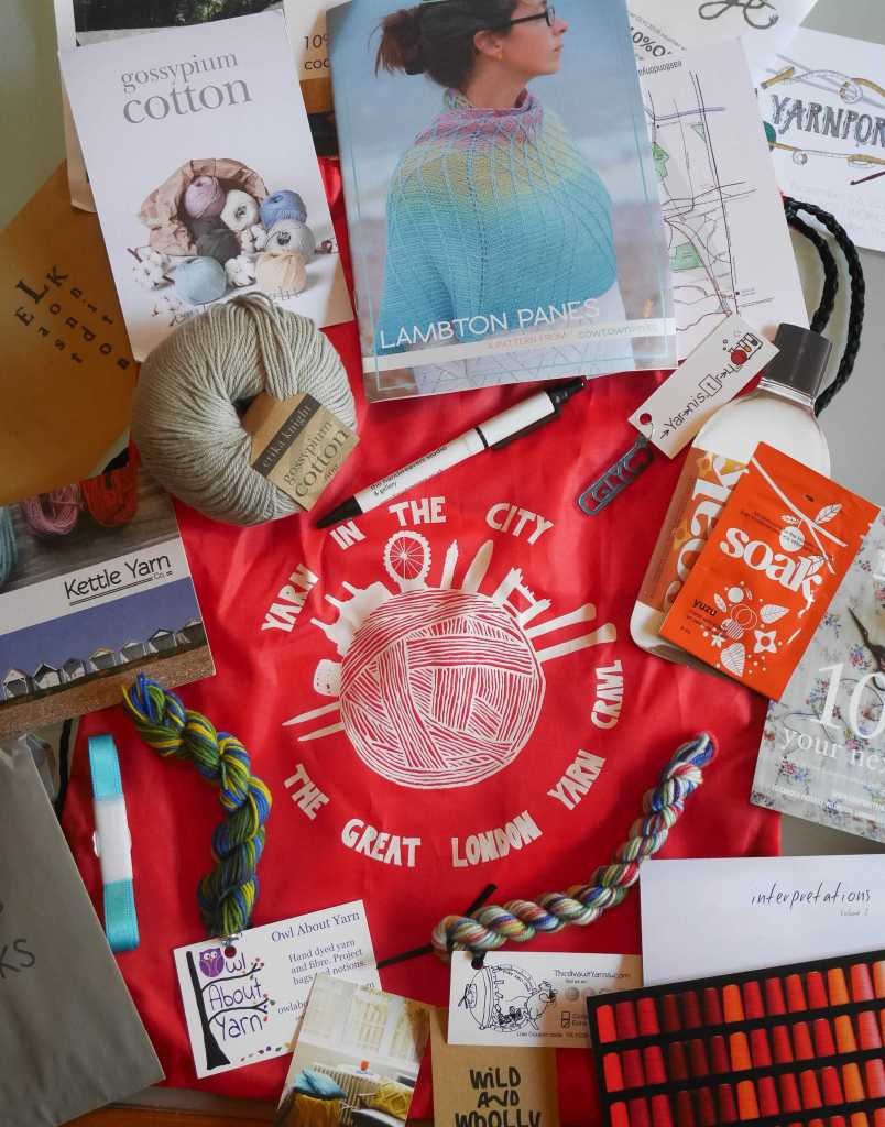 Great London Yarn Crawl 2016 goody bag