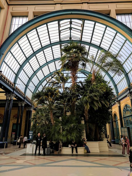 This is the entrance to Alexandra Palace - the Palm Court. It's so beautiful.