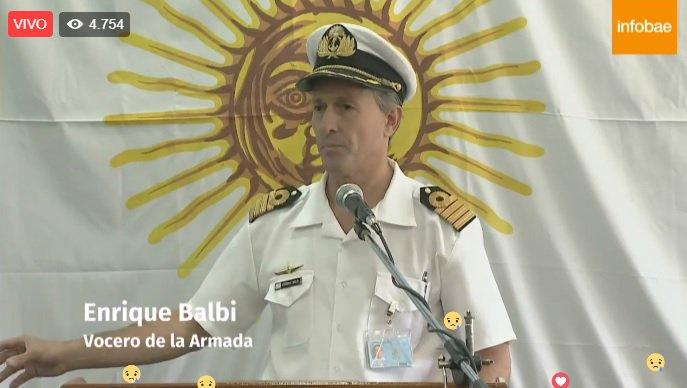 """Submarino ARA San Juan: La Armada confirmó que hubo un """"evento violento consistente con una explosión"""""""