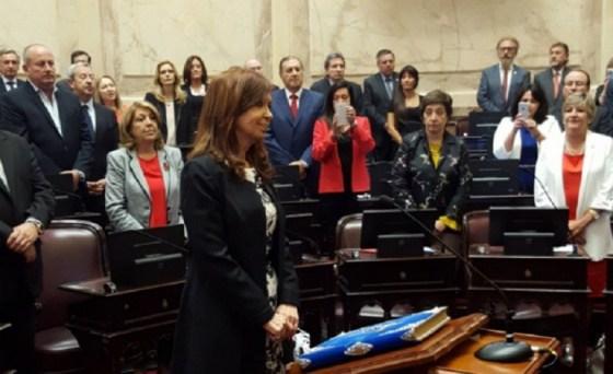 Hoy Juraron los 23 senadores electos, entre ellos Cristina Kirchner