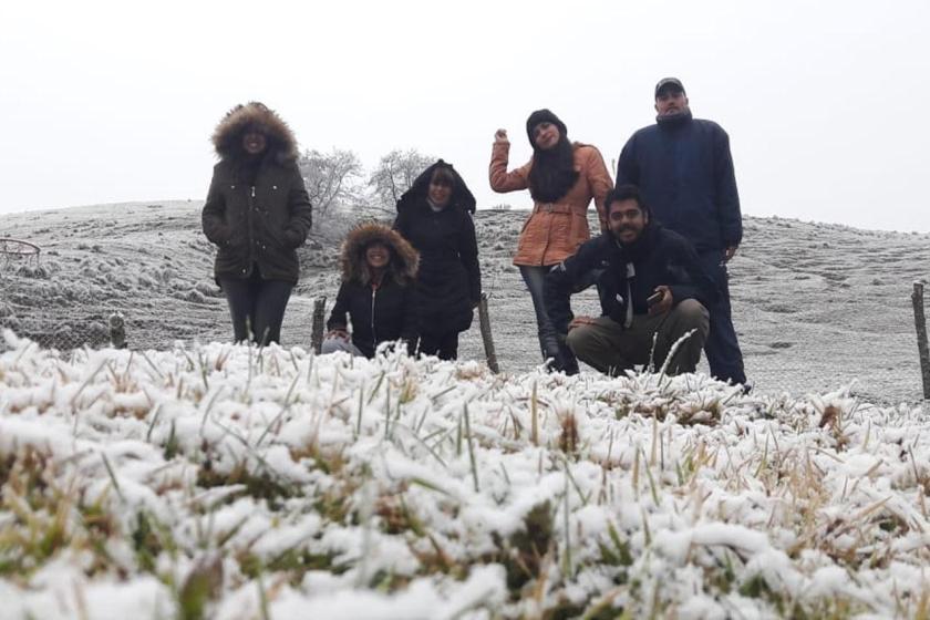 Nevó en Tafí del Valle