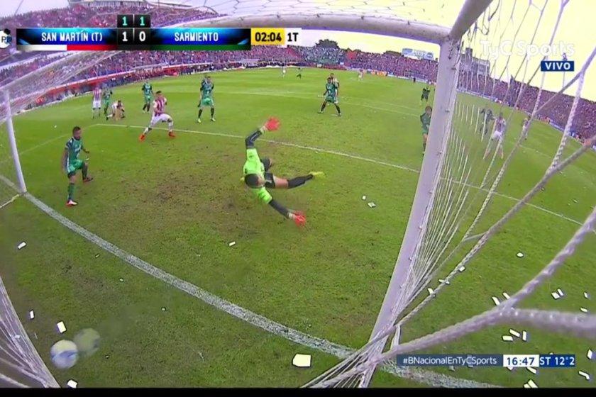 San Martín de Tucuman , hizo dos goles en dos minutos y vence a Sarmiento en La Ciudadela