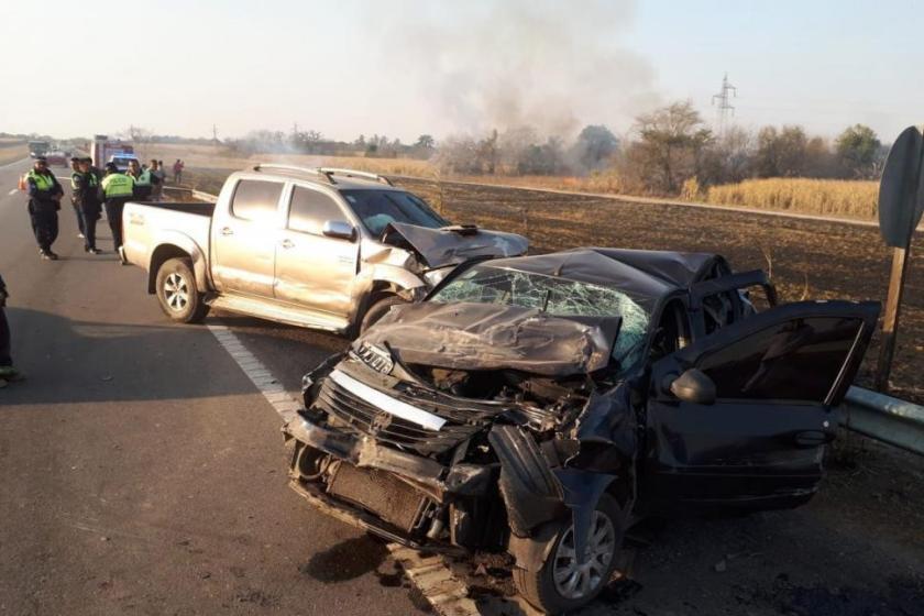 """""""Ante la falta de controles y sanciones"""" :  El denso humo de la quema de cañaverales causó un choque en cadena en la traza nueva de la Ruta 38"""