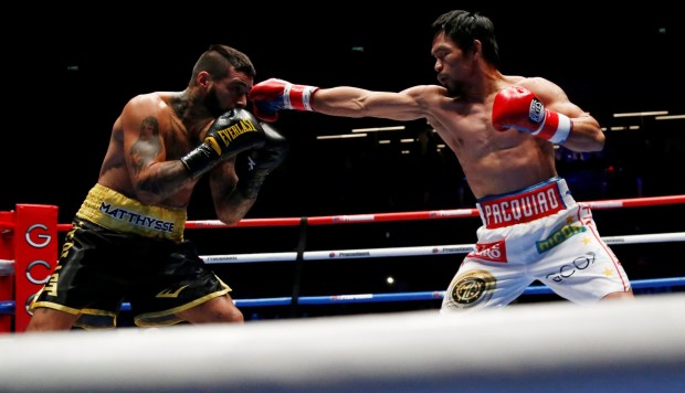 ¡ Manny Pacquiao nuevo campeón welter AMB! Noqueó a Matthysse en Kuala Lumpur