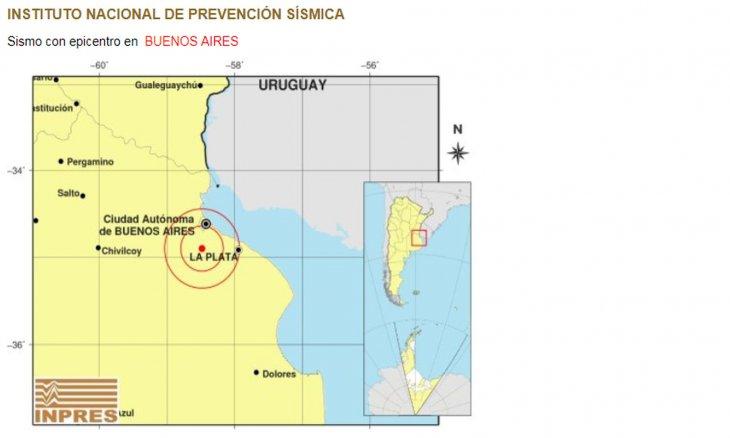 Un temblor de 3,8° en la escala Richter sacudió el sur del Conurbano